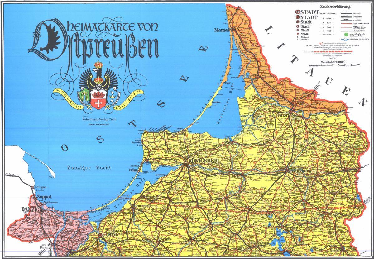 Karte Ostpreußen.Karte Von Ostpreußen Vor 1945 Filmgroephetaccent